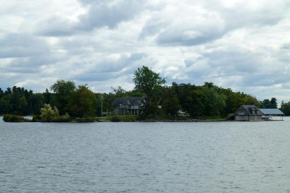 Des maisons de vacances éparpillées sur les îles