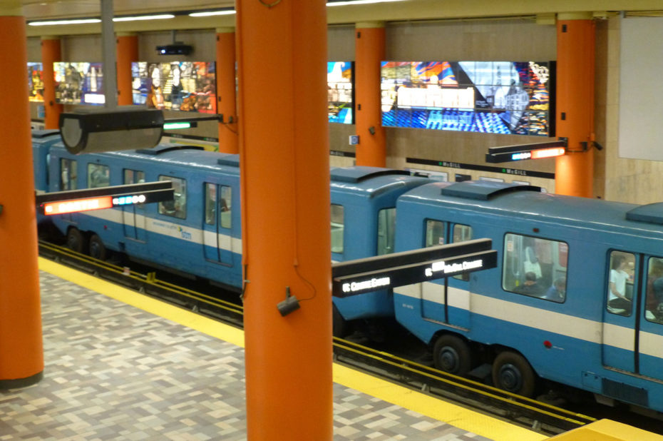 Le métro de Montréal est emprunté par 1,25 million de personnes chaque jour