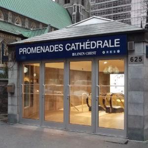 Promenades cathédrale, accès à la ville souterraine de Montréal