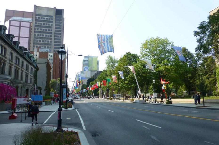 La rue Sherbrooke est l'une des plus longues de Montréal