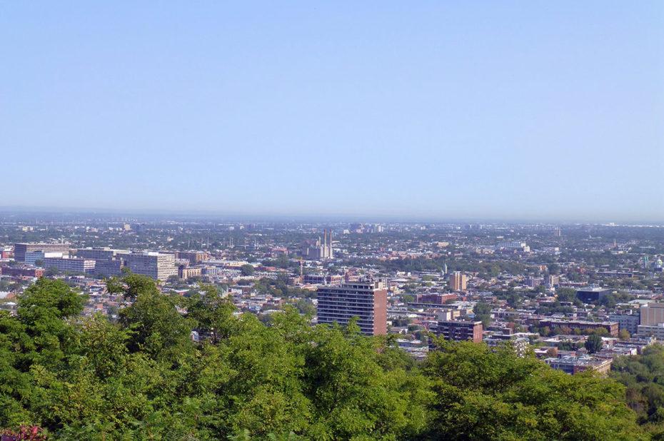 Vue sur Montréal depuis le belvédère du Mont Royal