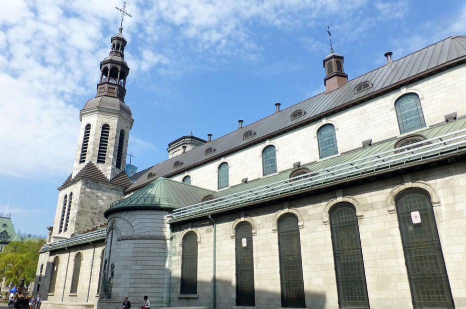 La basilique Notre-Dame de Québec, à l'architecture néoclassique