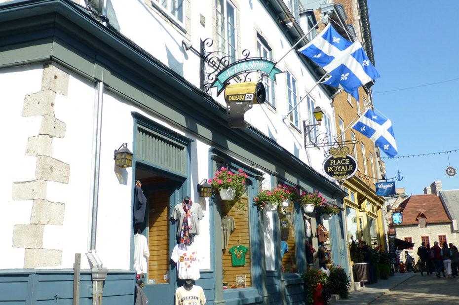 Boutique rue Notre-Dame dans la Basse Ville
