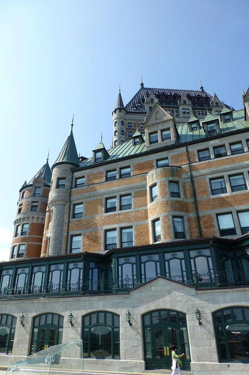 Le majestueux château Frontenac