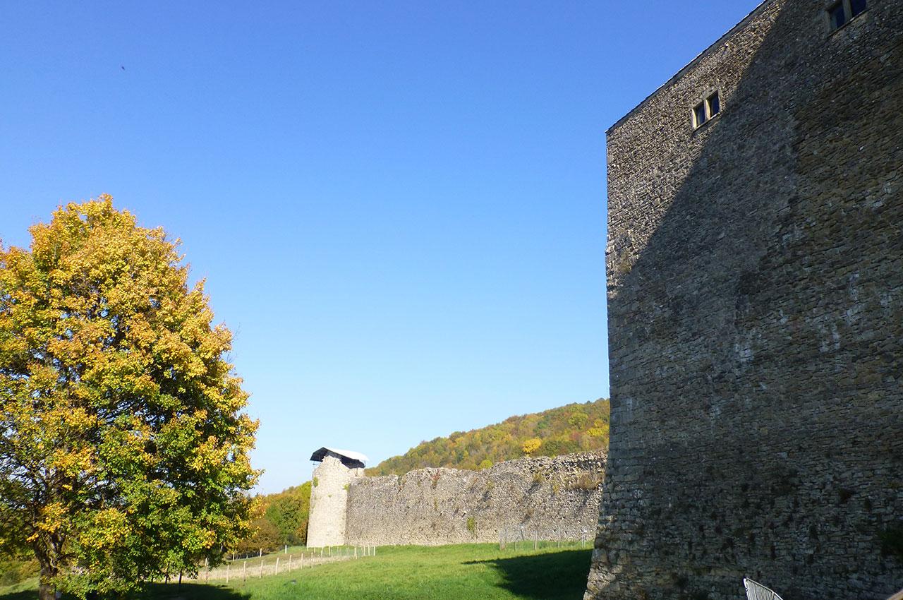 Le château des Allymes, forteresse médiévale du XIVe siècle