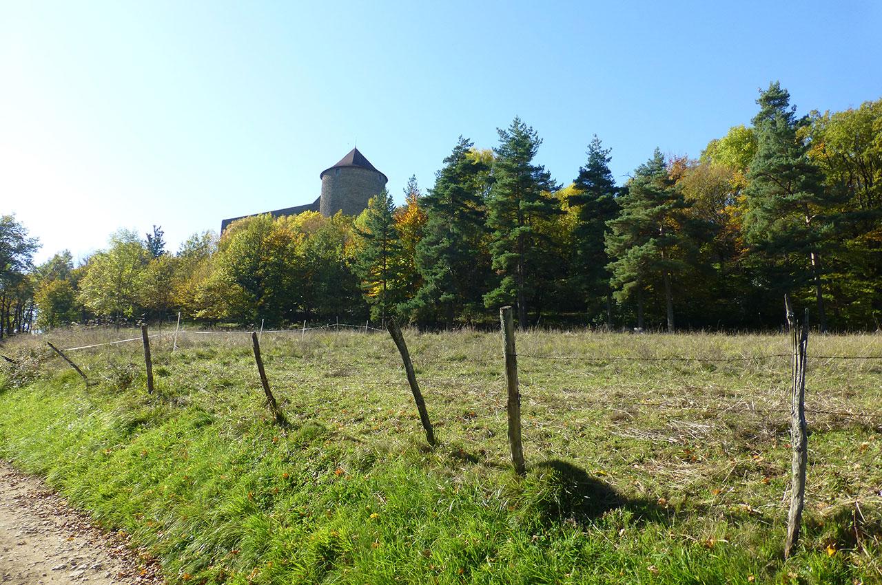 Chemin menant au château des Allymes