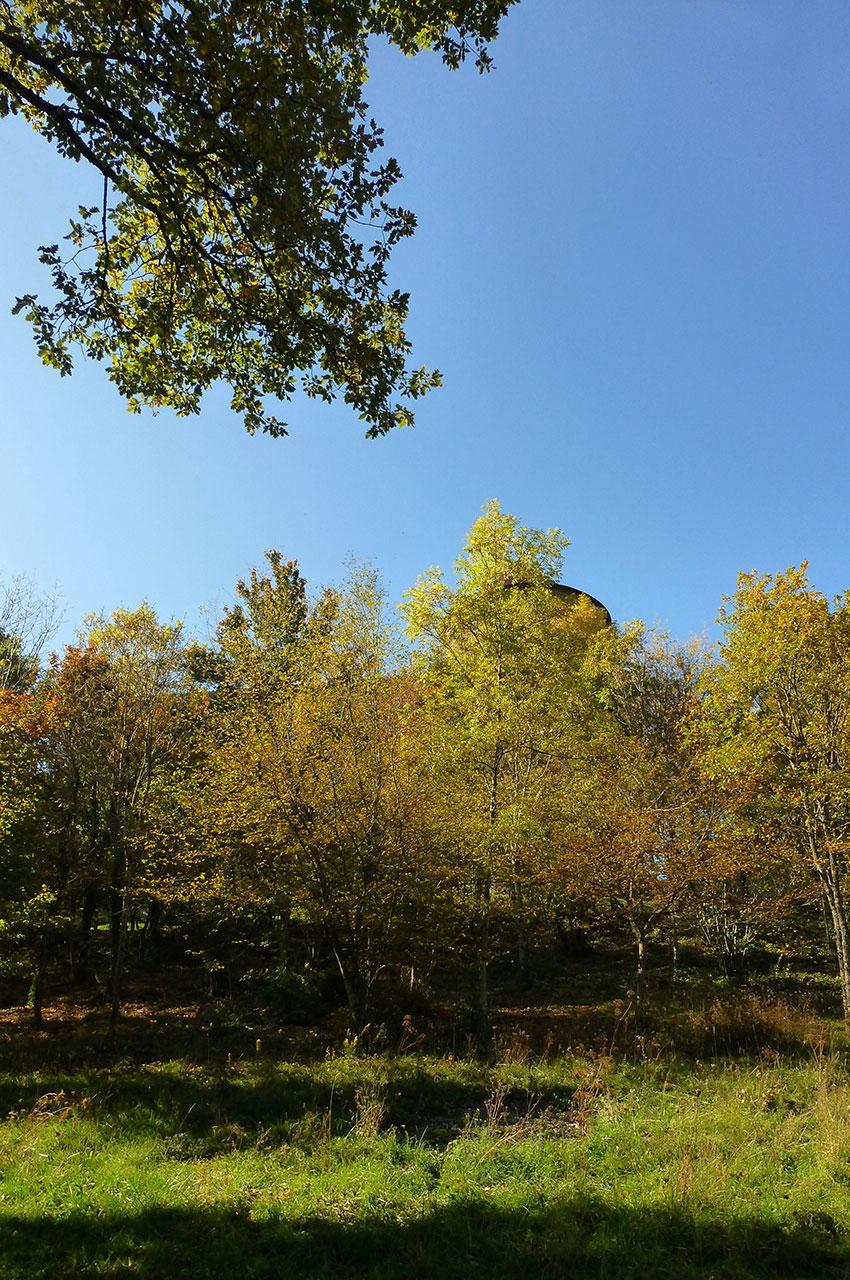 Les couleurs de l'automne autour du château des Allymes