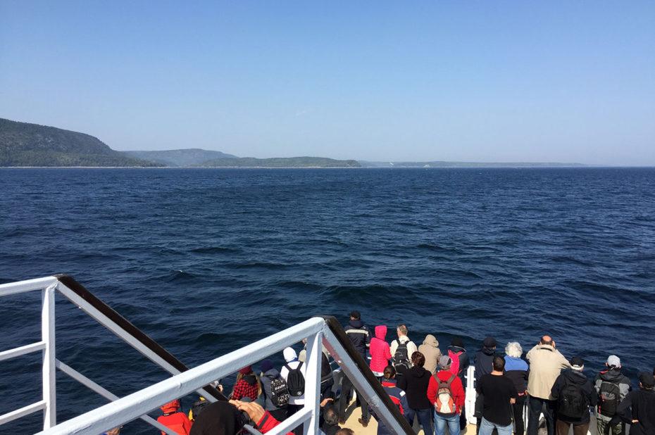 Départ pour la croisière d'observation des baleines