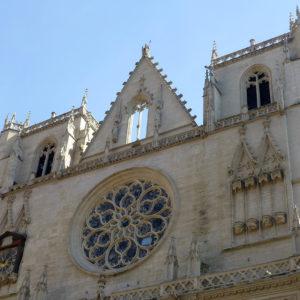 Façade de la cathédrale Saint-Jean de Lyon