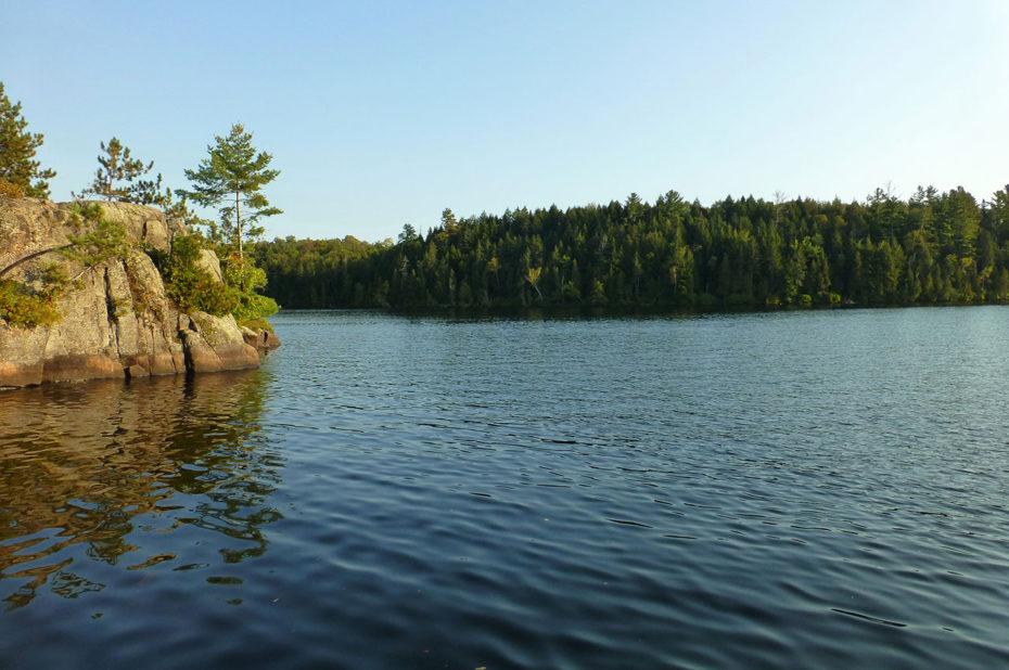 Le lac Blanc en début d'automne