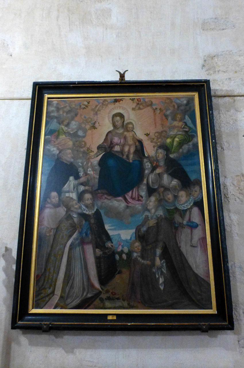 Peinture d'une Vierge à l'Enfant dans le château des Allymes