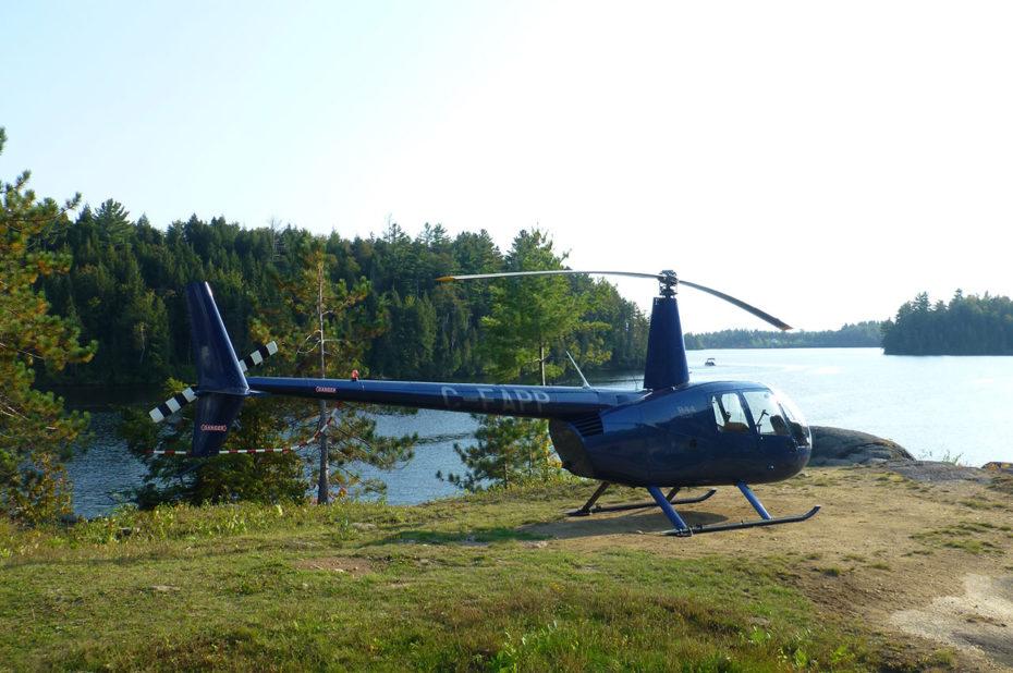 Il est possible de venir en hélicoptère à la Pourvoirie