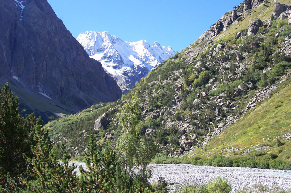 Peu après le départ de la randonnée, dans la vallée du Vénéon