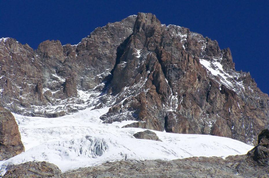 Glacier sur les hauteurs du refuge de Temple Écrins