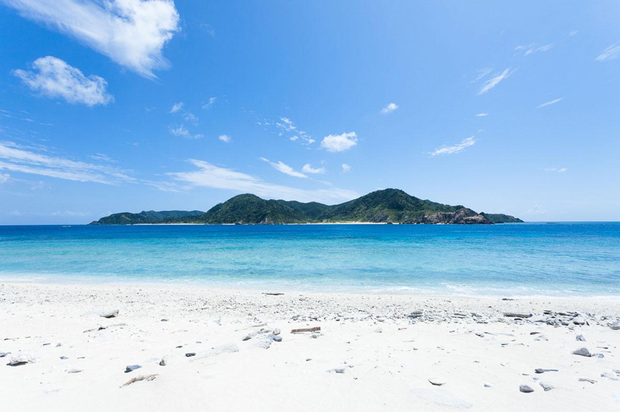 L'île Gahi, à Zamami dans la préfecture d'Okinawa