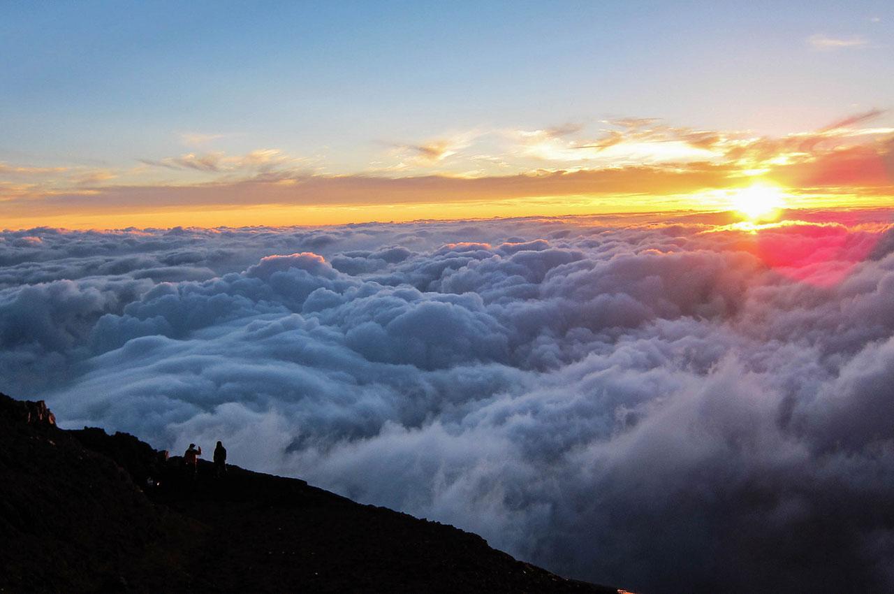 Lever de soleil au mont Fuji