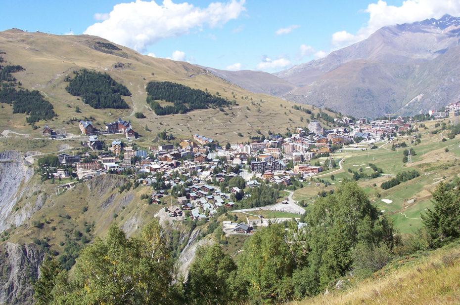 La station des Deux-Alpes à 1650 m d'altitude