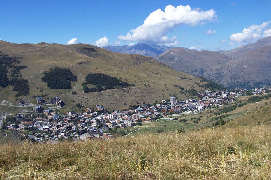 La station des Deux-Alpes à la fin de l'été