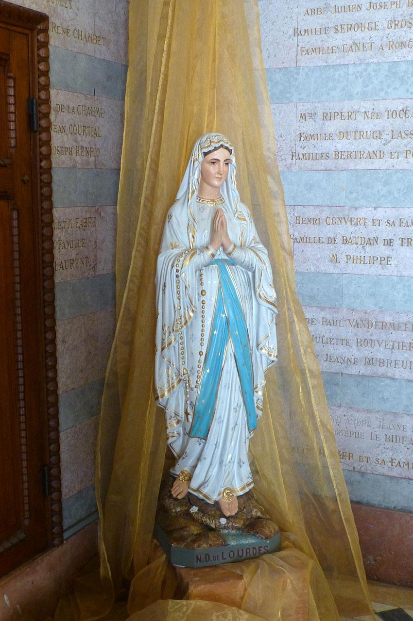 Statue de Notre-Dame-de-Lourdes