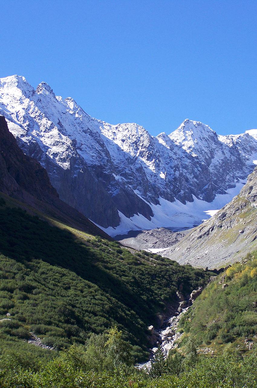 La vallée du Vénéon au sein du Parc National des Écrins