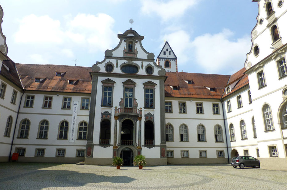 L'abbaye de Füssen est construite dans la première moitié du IXe siècle