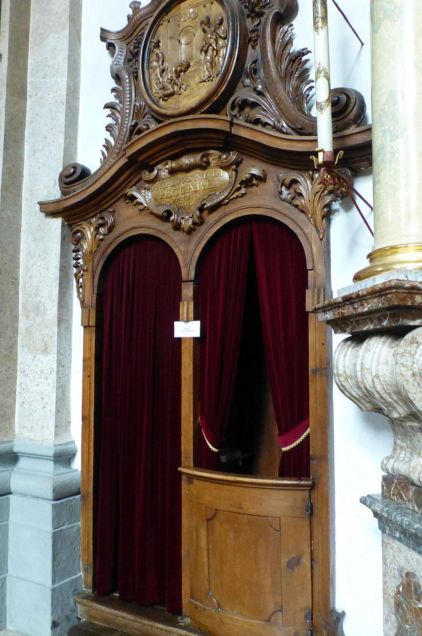 Le confessionnal de la basilique