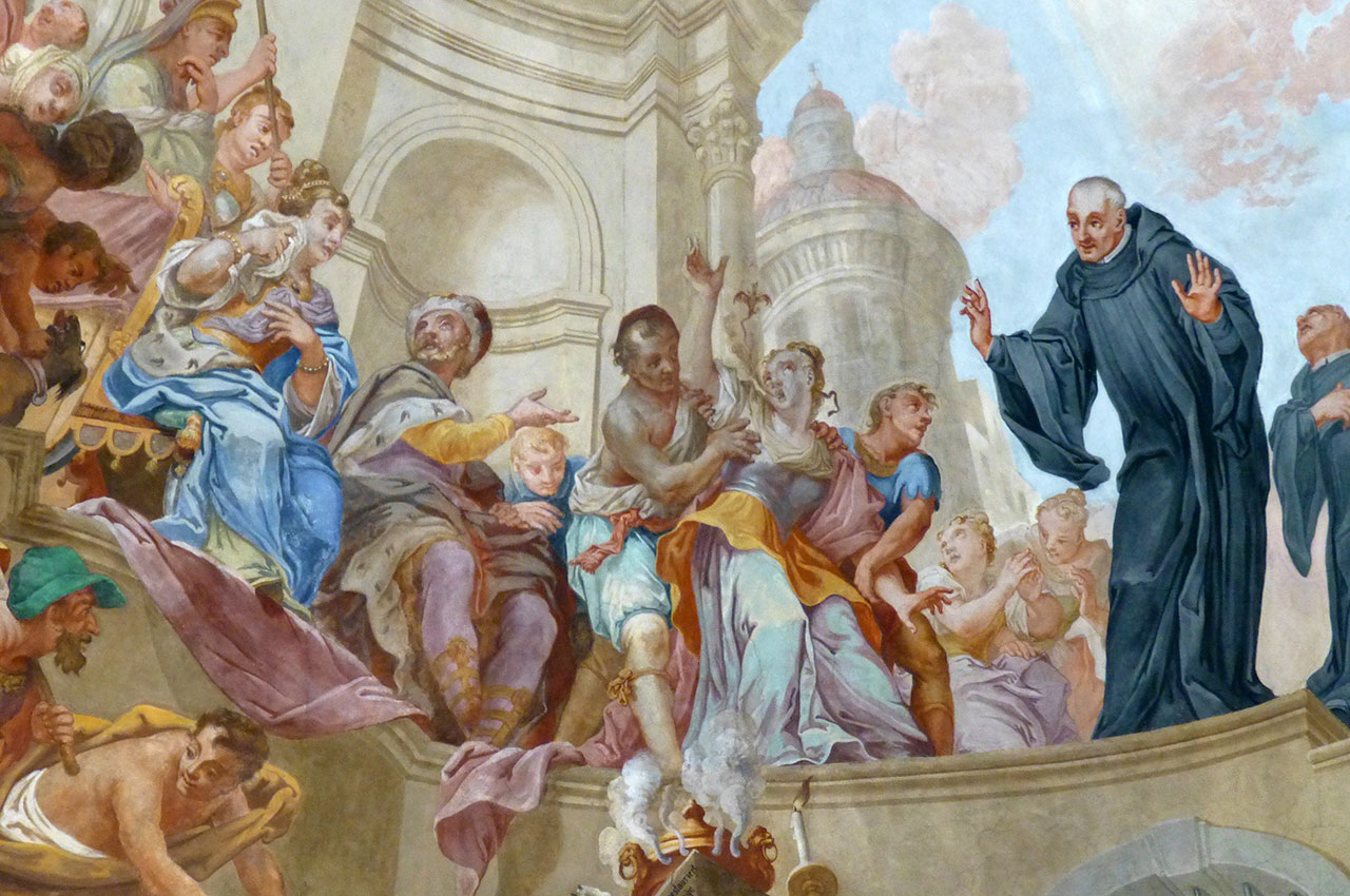 Peinture dans la basilique Saint-Magne