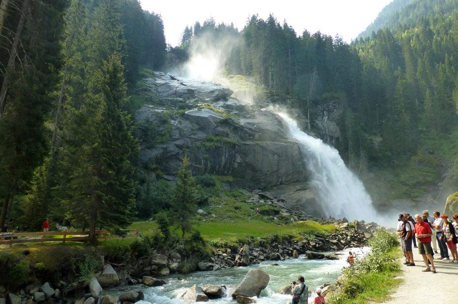 Les cascades de Krimml dans la vallée du Pingzau