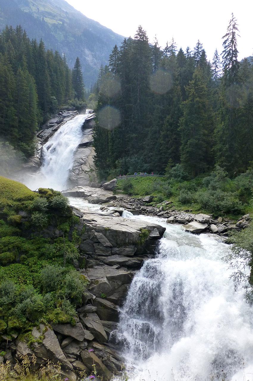 Cascades de Krimml au cœur du parc Hohe Tauern