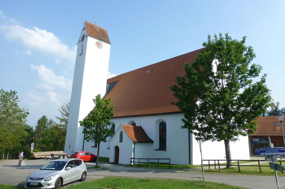 """L'église Heilig Kreuz, la """"plus belle église de village de l'Allgäu"""""""