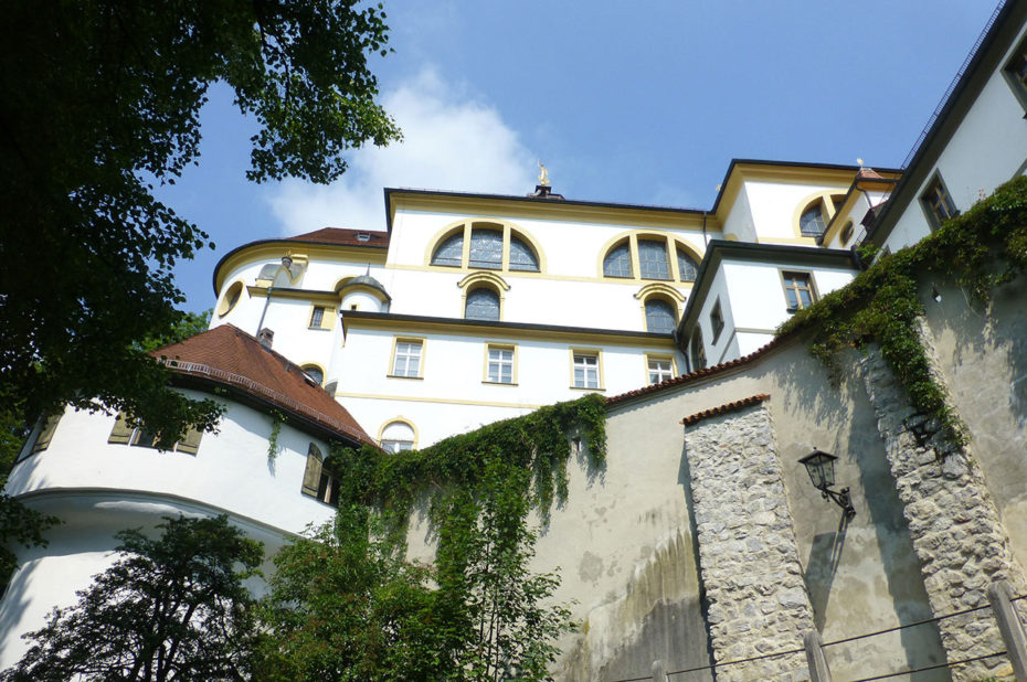 Partie de l'abbaye regroupant les habitations