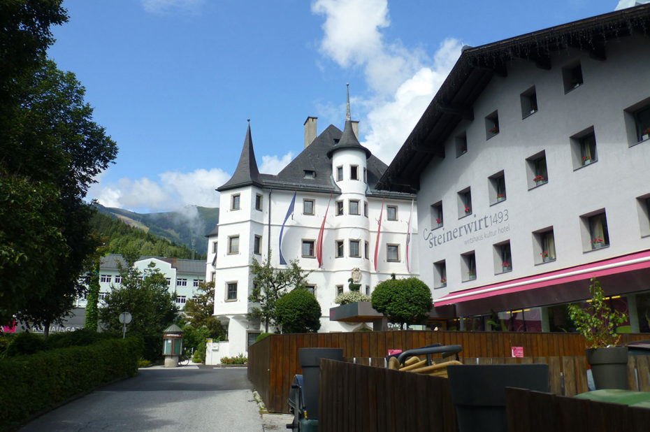 L'hôtel-restaurant Steinerwirt et le château Rosenberg