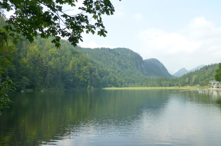 Le lac Weissensee a une superficie de 88 ha