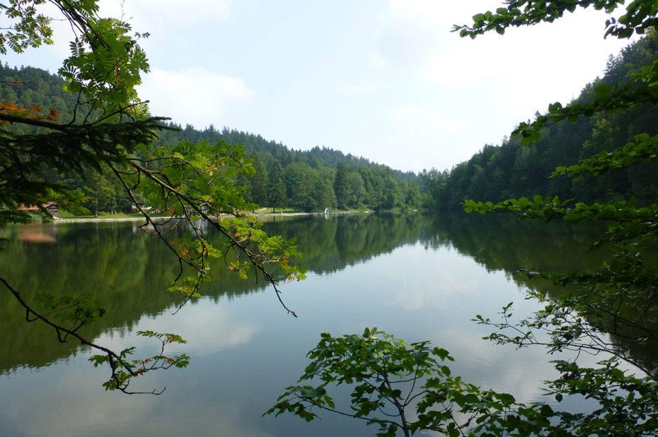 Magnifique perspective sur le lac Weissensee