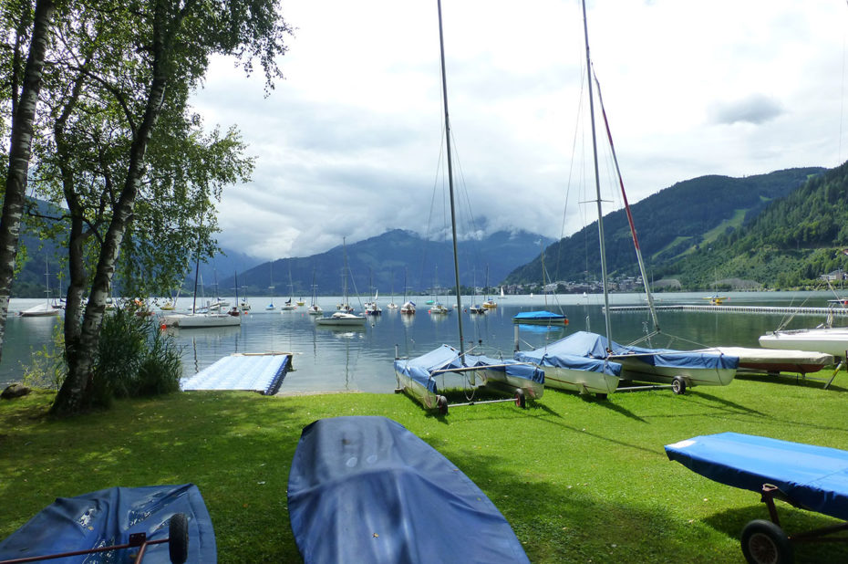 Le petit port de plaisance de Zell am See