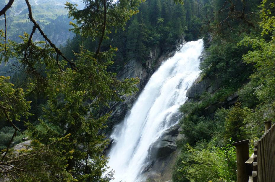 Des points de vue saisissants sur les cascades de Krimml