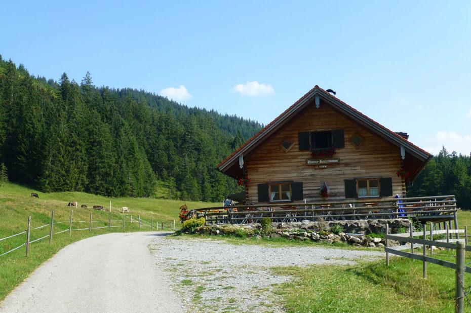 Le restaurant Untere-Reuterwanne à 1130 m d'altitude