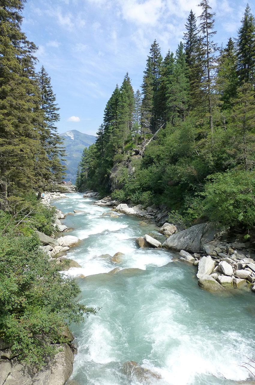 La rivière Krimmler Ache avant les cascades