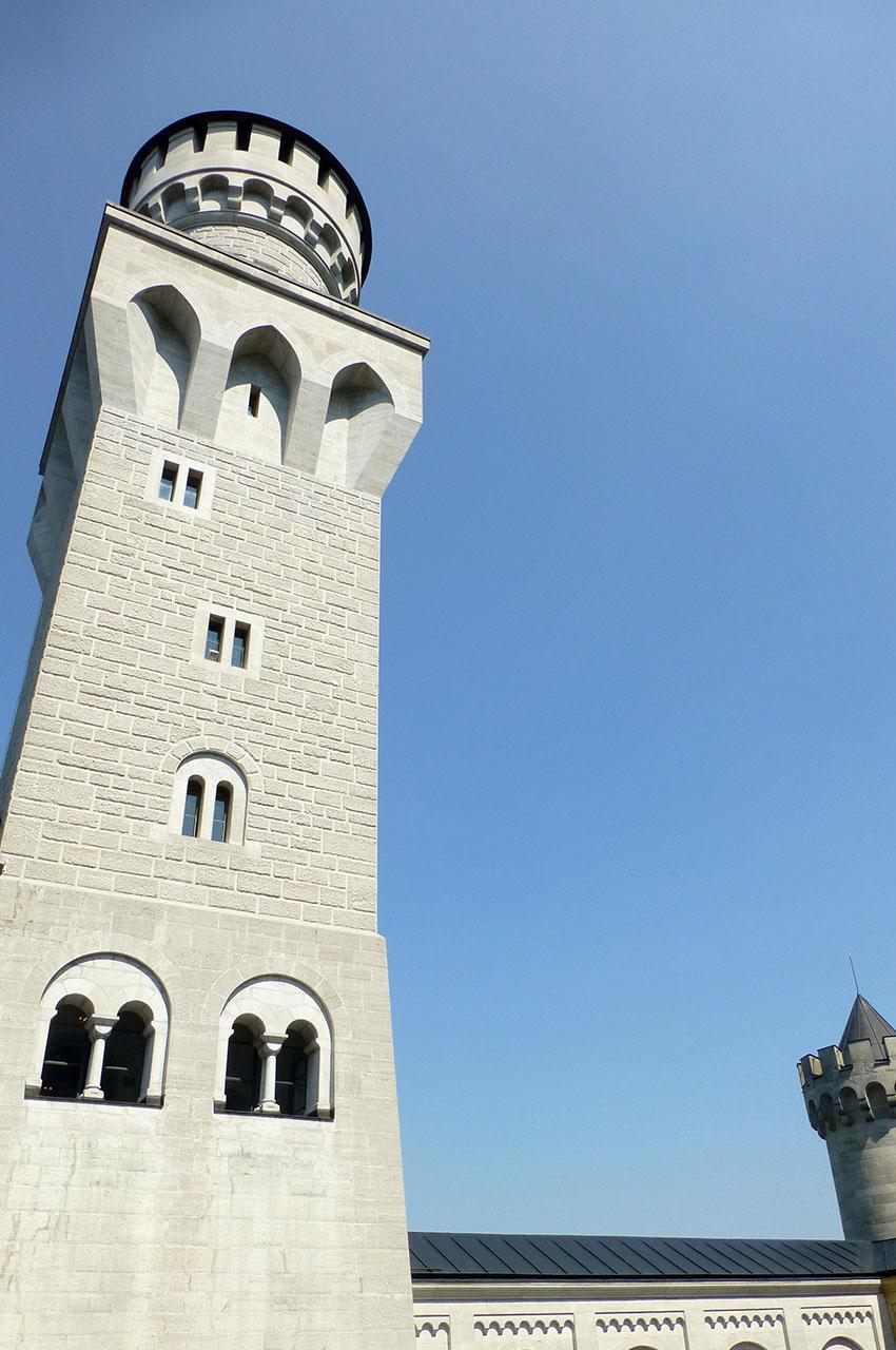 Une des tours à l'est du château de Neuschwanstein