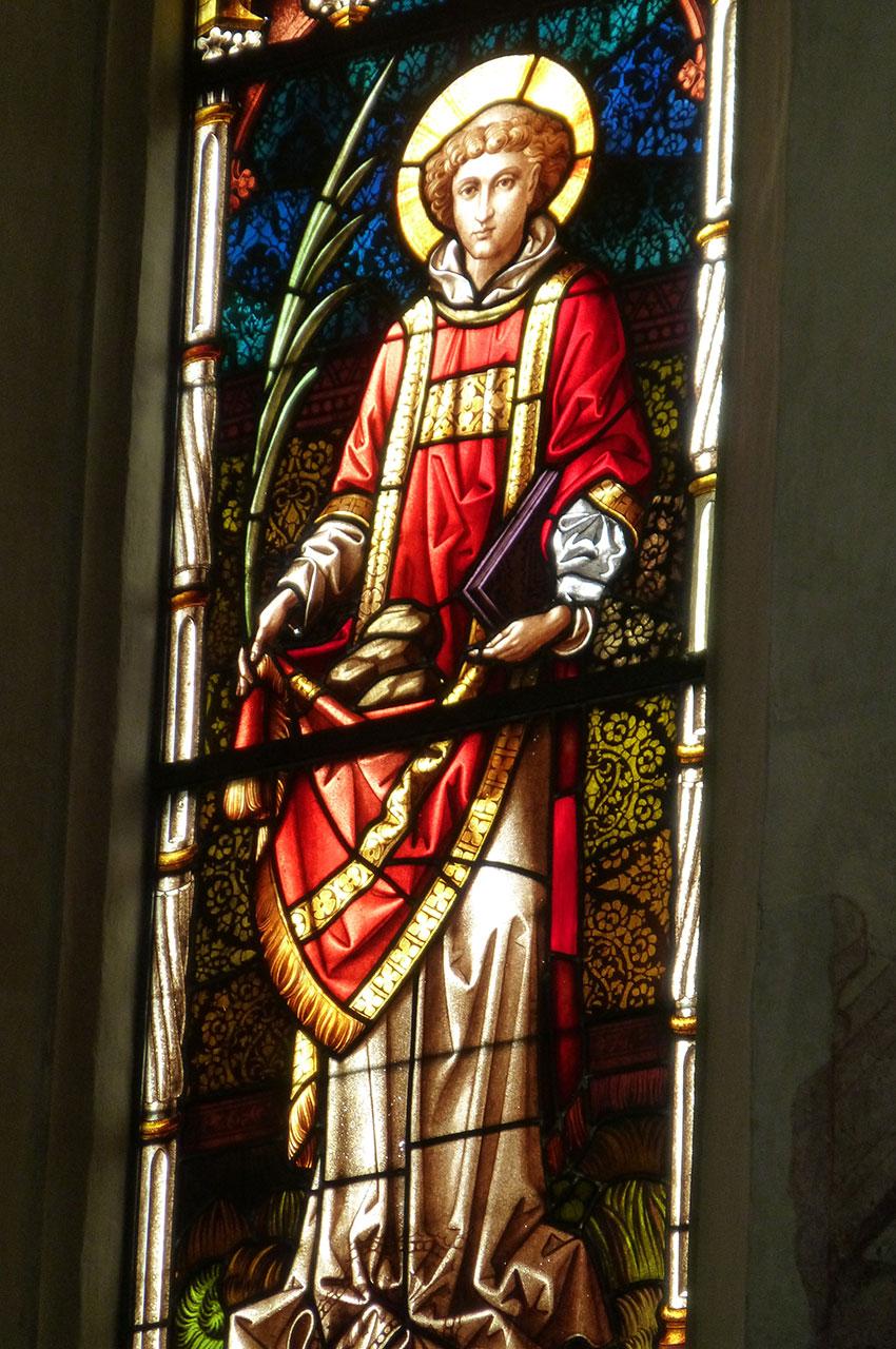 Vitrail de l'église Saint-Hippolyte