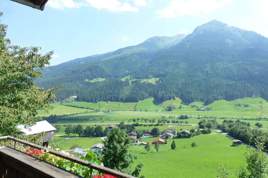 Vue depuis la maison d'hôtes Ferienwohnung Birkleiten