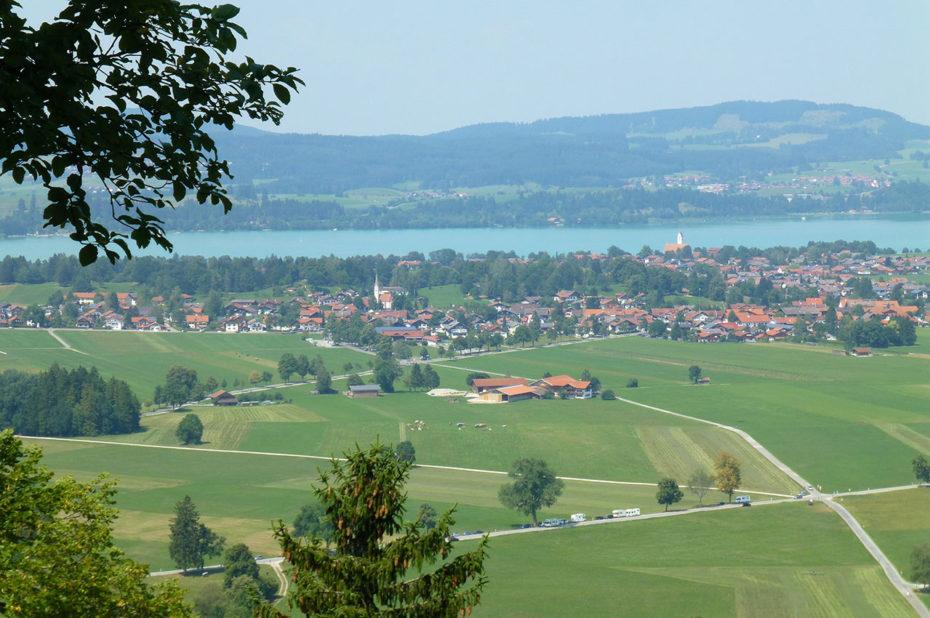 Vue sur le Pollät (rivière) et la vallée de Hohenschwangau