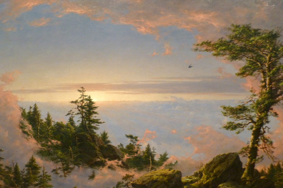 Above the Clouds at Sunrise de Frederic Edwin Church