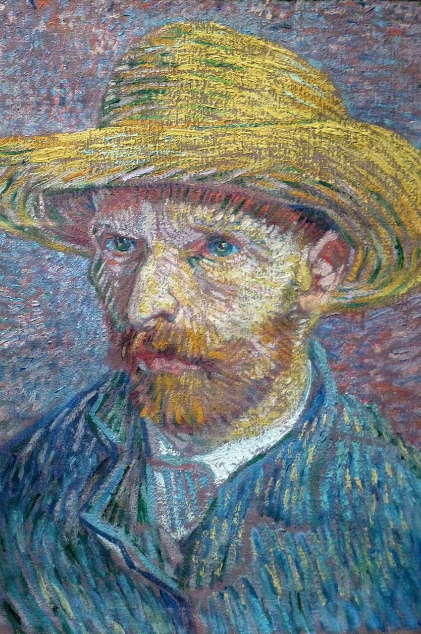 Autoportrait avec un chapeau de Vincent Van Gogh
