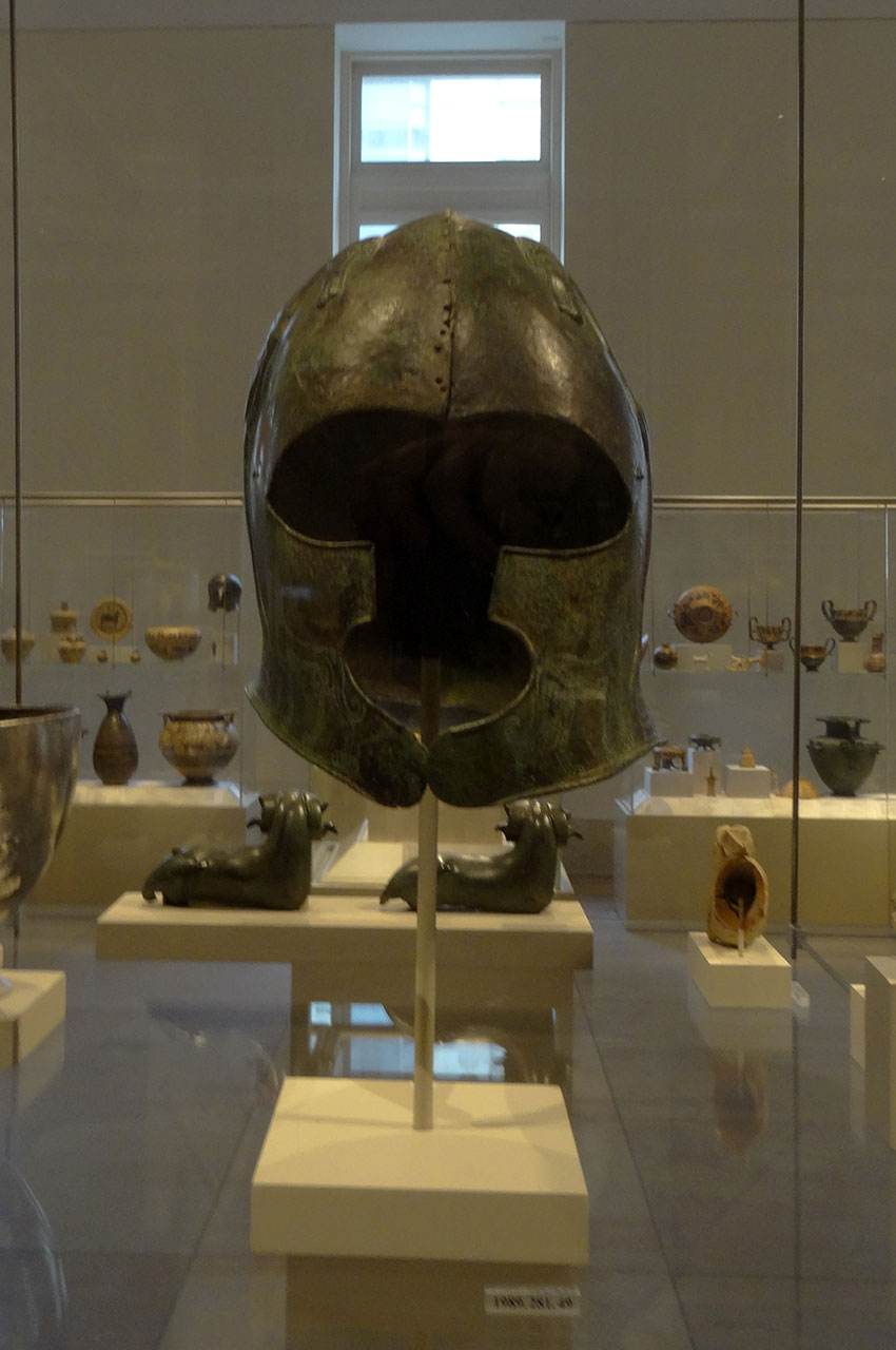 Casque en bronze, 7e siècle avant J.-C.