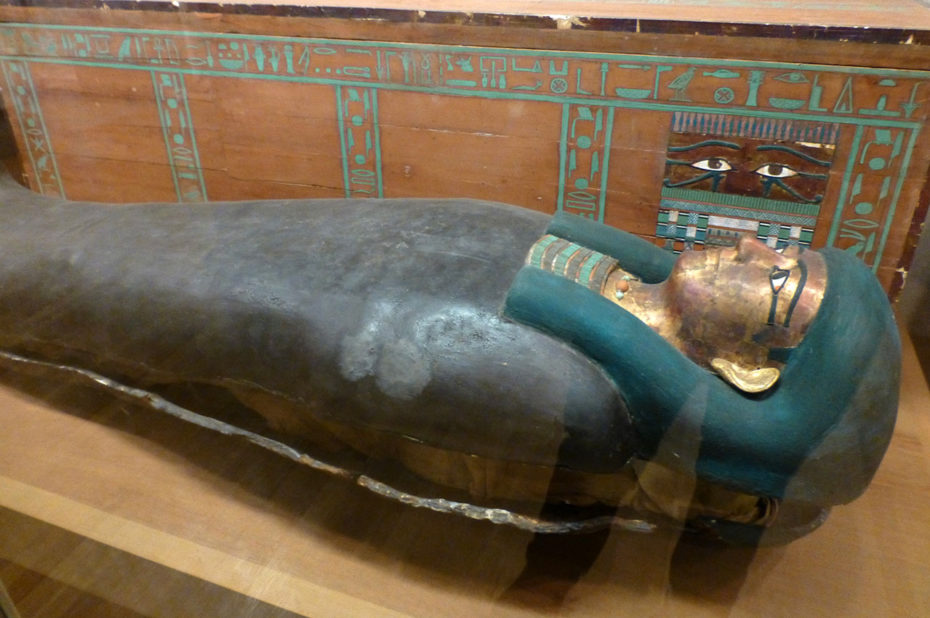 Cercueil et momie de Lady Nephthys, 12e dynastie