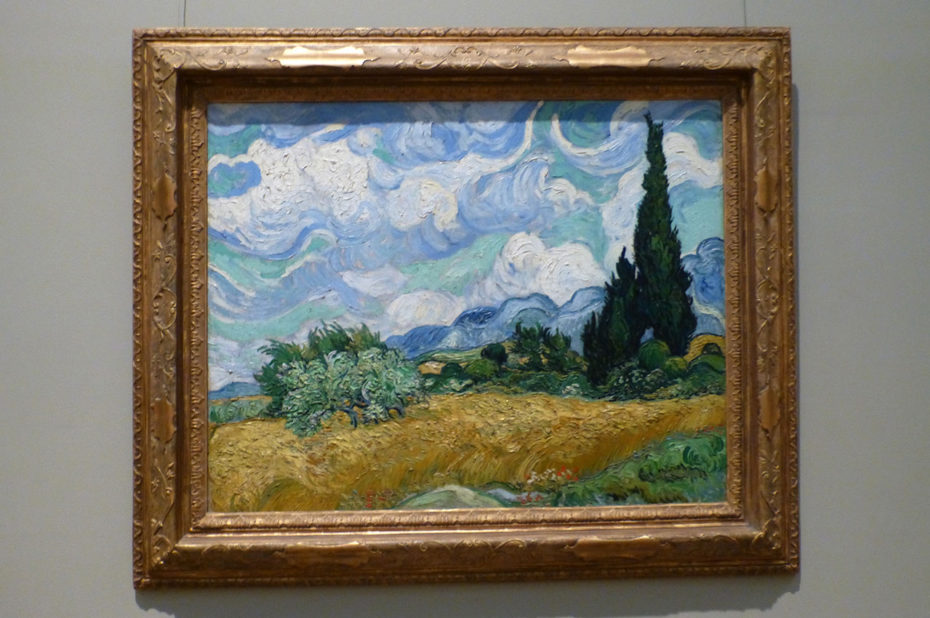 Champ de blé avec cyprès de Vincent Van Gogh