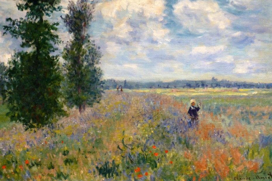 Champ de coquelicots près d'Argenteuil de Claude Monet