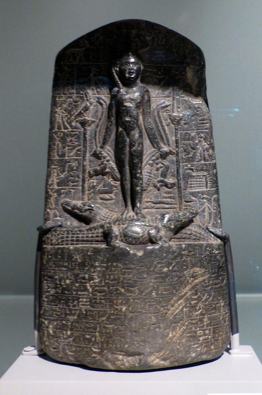 Cippus (stèle magique), période ptolémaïque