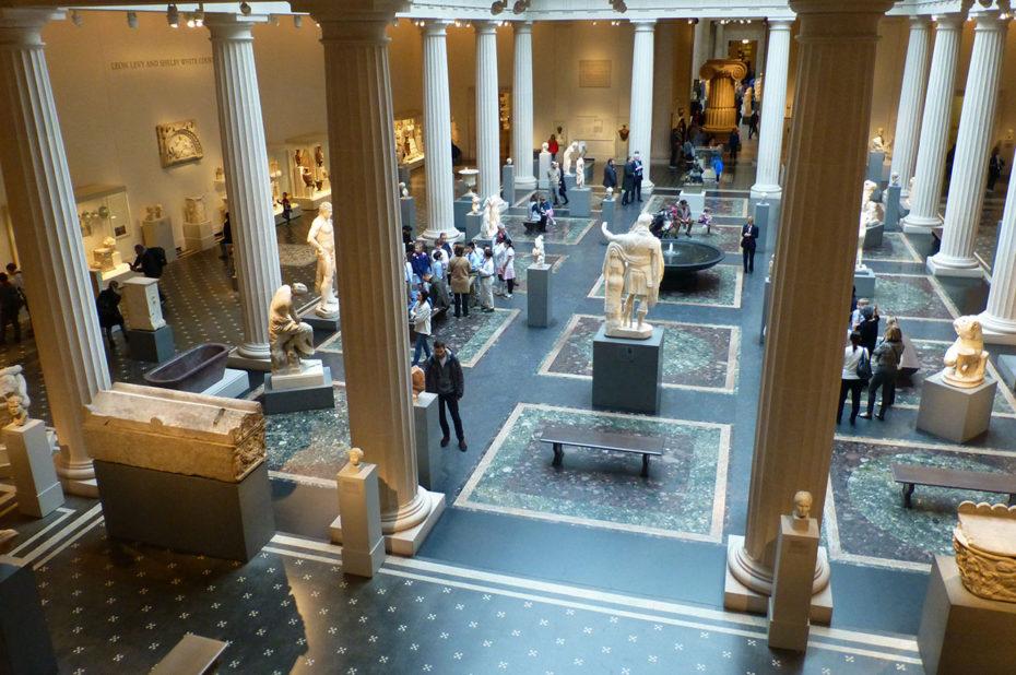 Vue sur la collection de l'art grec et romain du MET Museum